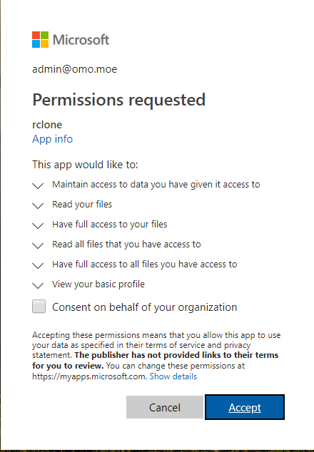 rclone authorize onedrive confirm.png